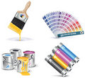 Vector print shop icon set. Part 1 Royalty Free Stock Photo
