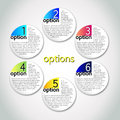 Vector progress options / one - six Royalty Free Stock Photo