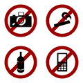 Vector prohibition icons