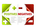 Vector pros and cons compare template for positives negatives Royalty Free Stock Photography