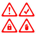 Vector protection icons isolated on white Stock Images