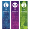 Vector Psychology Web banner design background or header Templates. Psi sign. Symbol and icon, icon. Profile Human