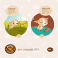 Vector puppy stories illustration