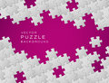 Vector purple puzzle background Royalty Free Stock Photo