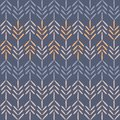 Vector Purple Woodland Chevron Seamless Pattern Background.