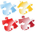 Vector puzzle peaces Royalty Free Stock Photography
