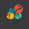 Vector of question marks icon Royalty Free Stock Photo