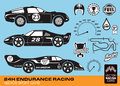 Vector race cars old retro illustration or eps file Royalty Free Stock Photo