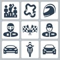 Vector race icons Royalty Free Stock Photo