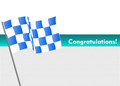Vector racing flag with congratulations i have created concept in Stock Images