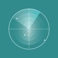 Vector Radar screen icon Royalty Free Stock Photo