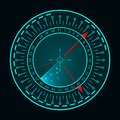 Vector radar screen. Military search system. Futuristic HUD radar display. Futuristic HUD interface Royalty Free Stock Photo