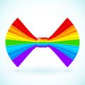 Vector rainbow colors bow stripes with plastic paper effect Stock Photo