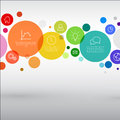Vector rainbow diagram infographic template Royalty Free Stock Photo