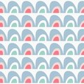 Vector rainbow seamless repeat pattern