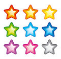 Vector rainbow stars Royalty Free Stock Photography