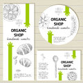 Vector ready design template for organic cosmetic products, hand