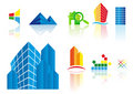 Vector real estate icons Royalty Free Stock Photos