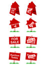 Vector real estate sale signage Stock Photography
