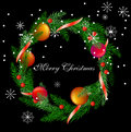 Vector realistic christmas wreath Stock Photo