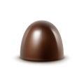 Vector Realistic Dark Black Bitter Chocolate Candy