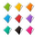 Vector realistic rhombus colorful Sticker set Royalty Free Stock Photo