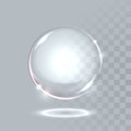 Vector realistic sphere crystal bubble drop Royalty Free Stock Photo