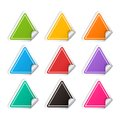 Vector realistic triangle colorful Sticker set Royalty Free Stock Photo