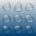 Vector realistic water drops set