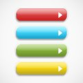 Vector  realistic  Web  buttons Royalty Free Stock Photo