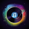 Vector record icon party and music concept Royalty Free Stock Image