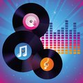 Vector record icon party and music concept Royalty Free Stock Photo