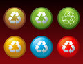 Vector recycle buttons icons symbols Royalty Free Stock Photography