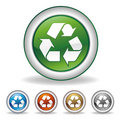 Vector recycle icon Stock Images
