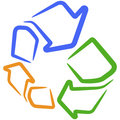 Vector recycle sign. Royalty Free Stock Photo