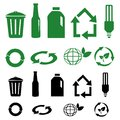 Vector recycle signs on white Stock Image