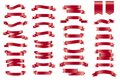 Vector red banner Ribbons. Set of 34 Ribbons Royalty Free Stock Photo