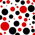 Vector red and black dot geometry pattern. color abstract geometric background . creative art deco. hipster fashion print Royalty Free Stock Photo