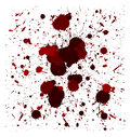 Vector red brush splatters set of quality handmade Stock Images