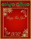 Vector red Christmas album in 2012 Royalty Free Stock Photography