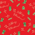 Christmas red seamless vector pattern background