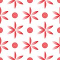 Vector red fllower seamless repeat pattern