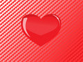 Vector red glass heart Stock Photos