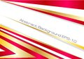 Vector red and gold background Royalty Free Stock Images