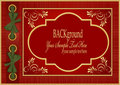 Vector red with gold pattern album Royalty Free Stock Photography