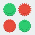 Vector red and green stabursts Royalty Free Stock Photography