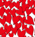 Vector red hearts pattern