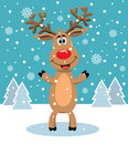 Vector red nosed reindeer Royalty Free Stock Photography