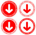 Vector red price tags arrow Royalty Free Stock Photos