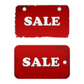 Vector red sale set. discount tags labels Stock Image